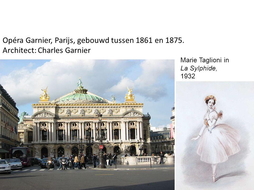 Marie Taglioni in La Sylphide, 1932 Opéra Garnier, Parijs, gebouwd tussen 1861 en 1875. Architect: Charles Garnier