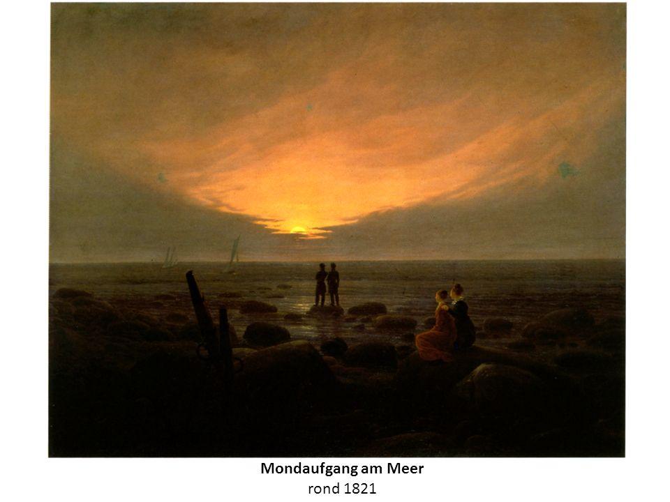 Mondaufgang am Meer rond 1821