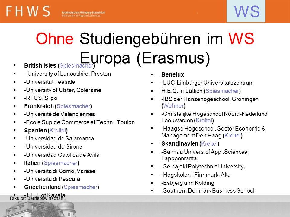 Ohne Studiengebühren im WS Europa (Erasmus) British Isles (Spiesmacher) - University of Lancashire, Preston -Universität Teeside -University of Ulster
