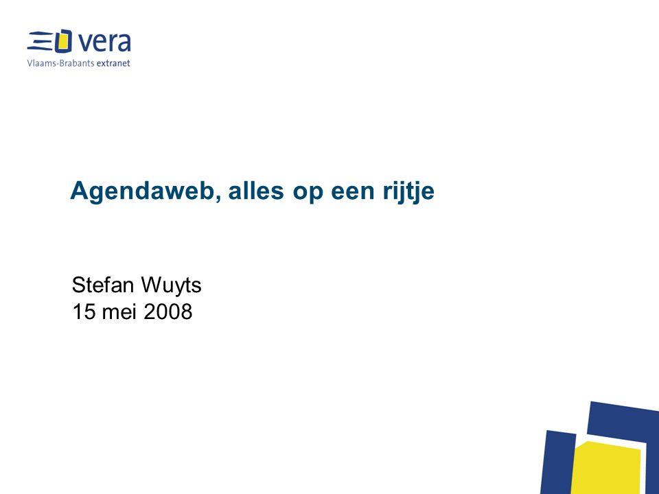 Agendaweb, alles op een rijtje Stefan Wuyts 15 mei 2008