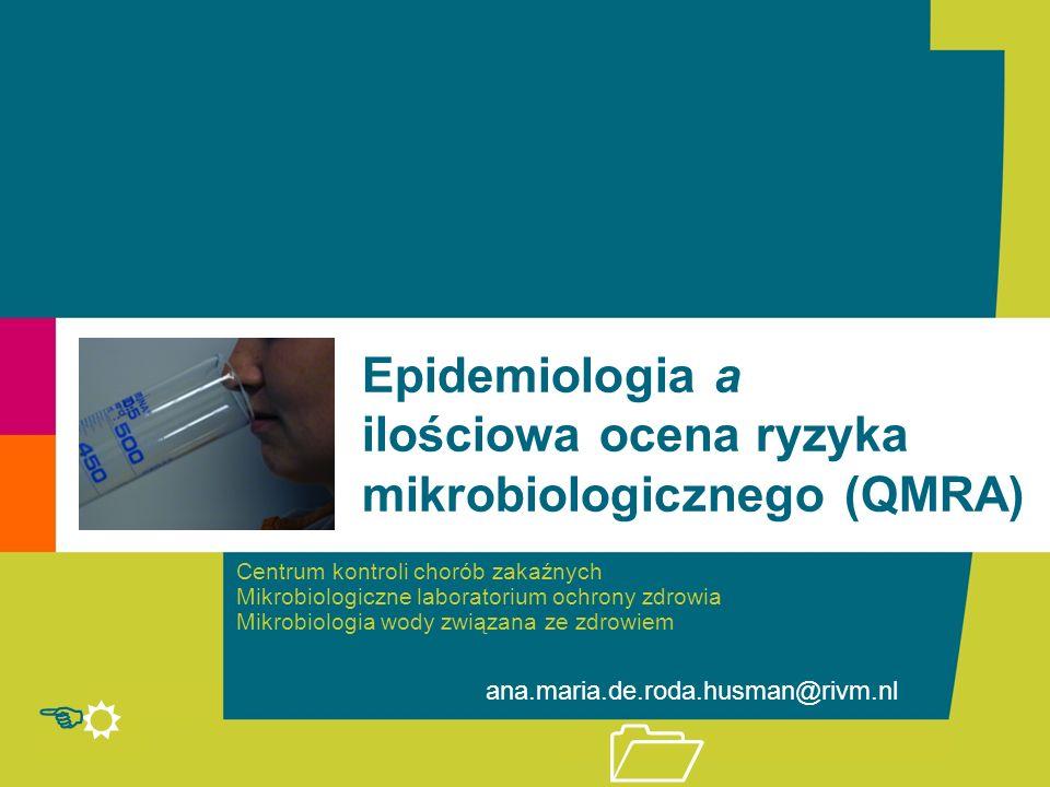 R E 1 Centrum kontroli chorób zakaźnych Mikrobiologiczne laboratorium ochrony zdrowia Mikrobiologia wody związana ze zdrowiem ana.maria.de.roda.husman