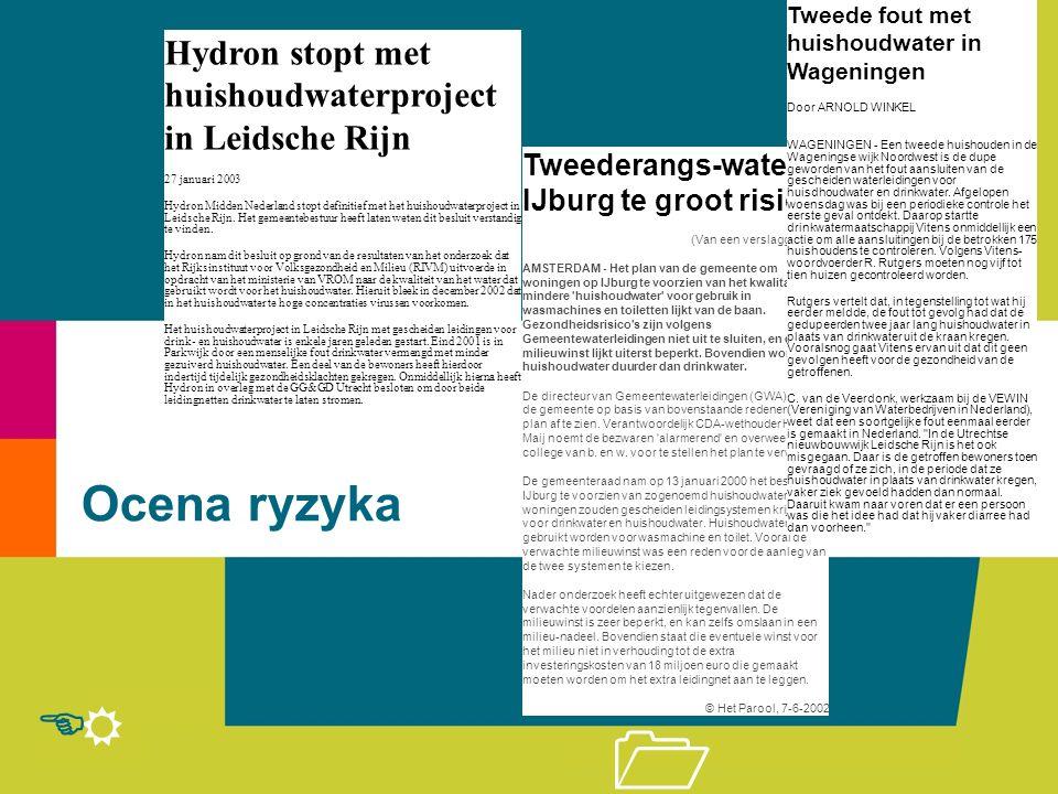 R E 1 Ocena ryzyka Tweederangs-water IJburg te groot risico (Van een verslaggeefster) AMSTERDAM - Het plan van de gemeente om woningen op IJburg te vo