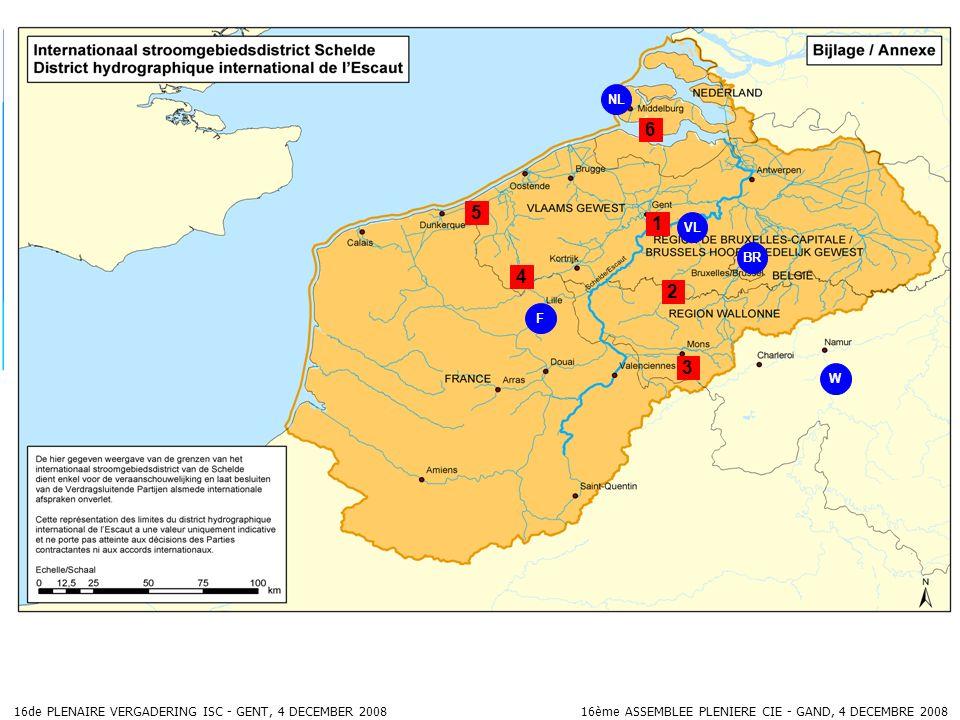 16de PLENAIRE VERGADERING ISC - GENT, 4 DECEMBER 2008 16ème ASSEMBLEE PLENIERE CIE - GAND, 4 DECEMBRE 2008 BR F NL 5 3 1 2 4 VL 6 W
