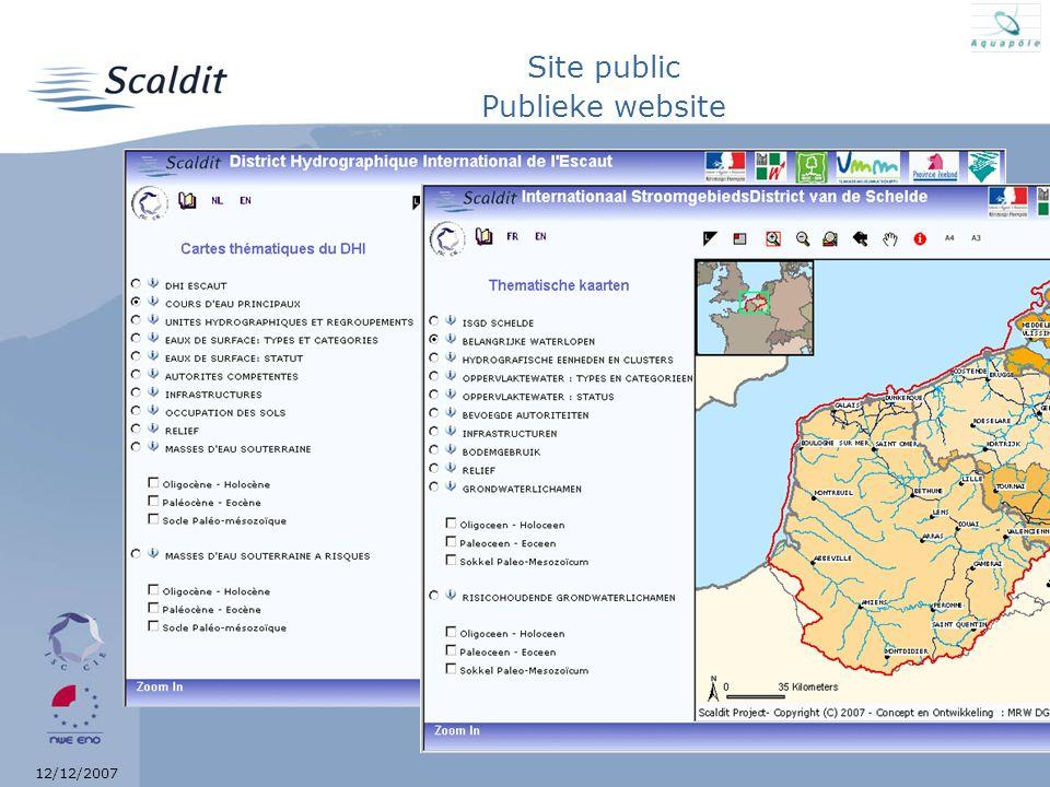 12/12/2007 Site public Publieke website
