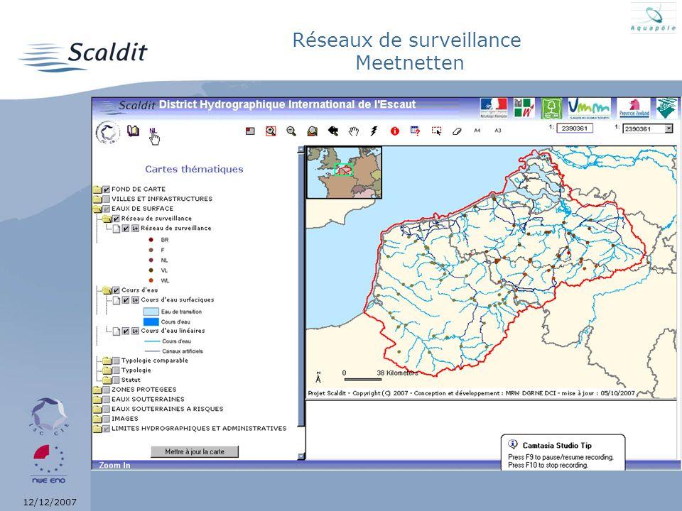 12/12/2007 Réseaux de surveillance Meetnetten Hyperliens ?