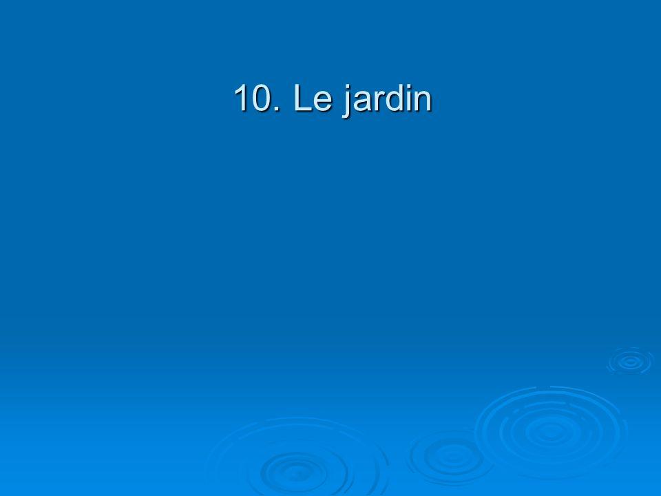 10. Le jardin