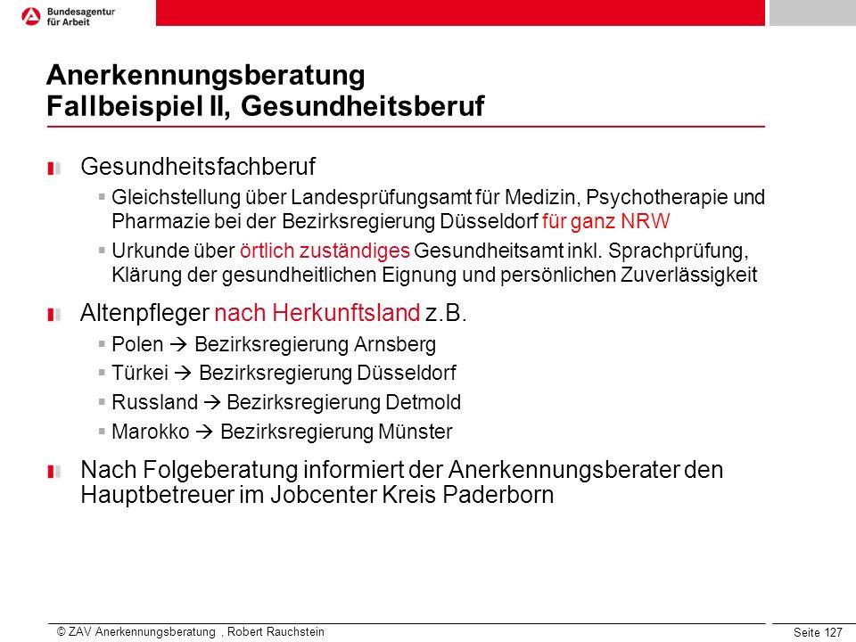 Seite 127 Gesundheitsfachberuf Gleichstellung über Landesprüfungsamt für Medizin, Psychotherapie und Pharmazie bei der Bezirksregierung Düsseldorf für