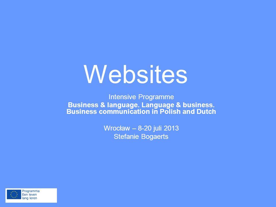 Business & language.Language & business. Business communication in Polish and Dutch Ik haat...