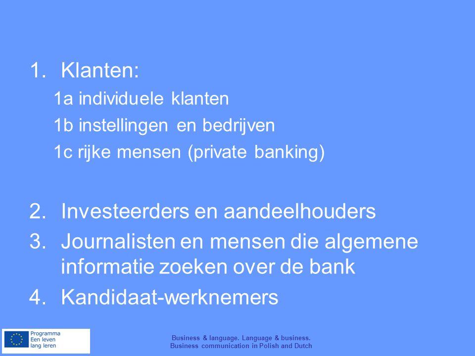 Business & language. Language & business. Business communication in Polish and Dutch www.jampol.pl