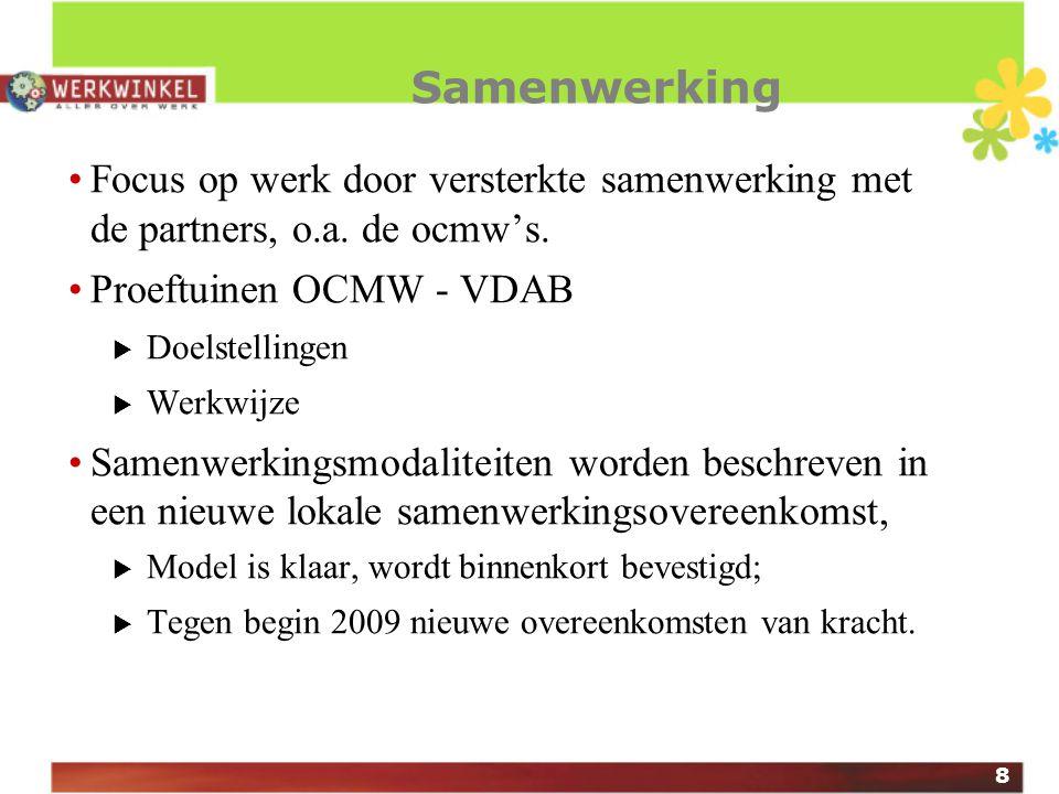 19 Tot slot Alle informatie over het nieuwe WW-concept op: www.werkwinkel.be/extranet Bezorg ons uw mail-adres en wij houden u op de hoogte.