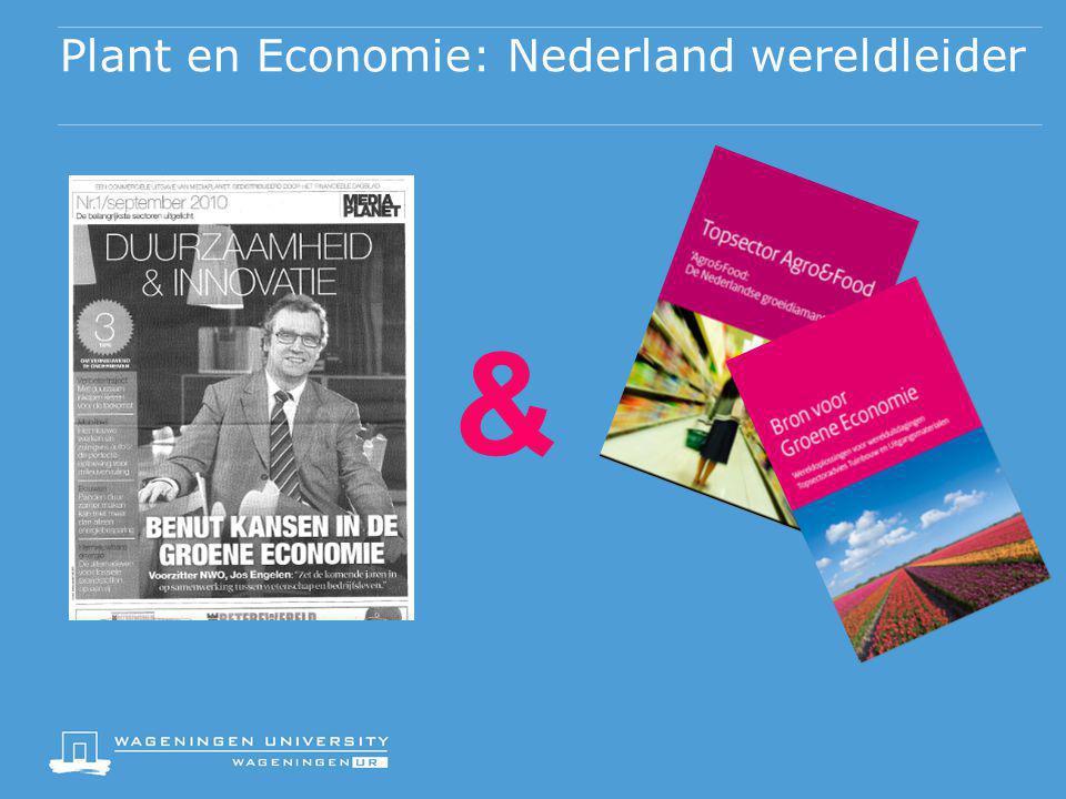 Plant en Economie: Nederland wereldleider &