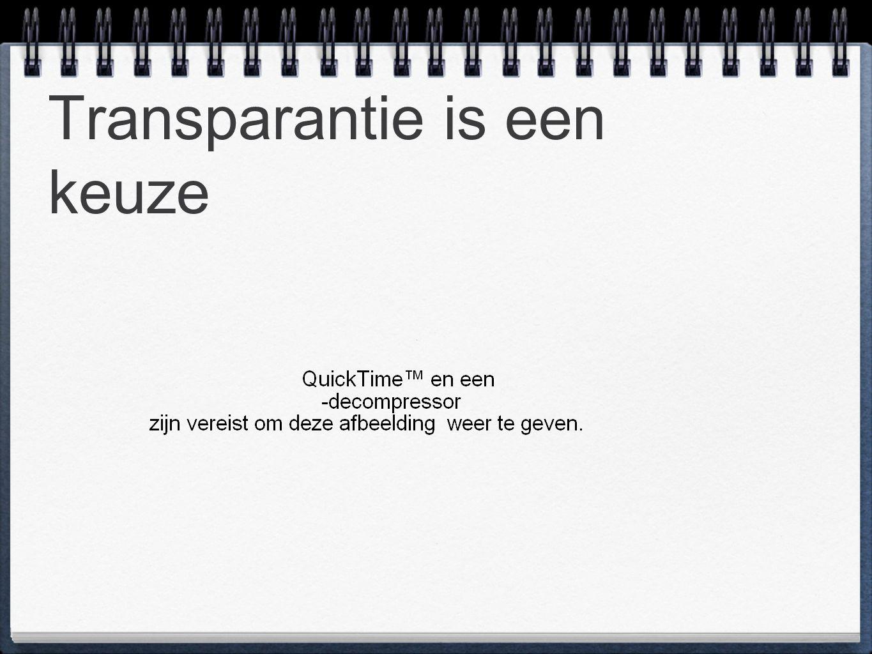 Transparantie is een keuze