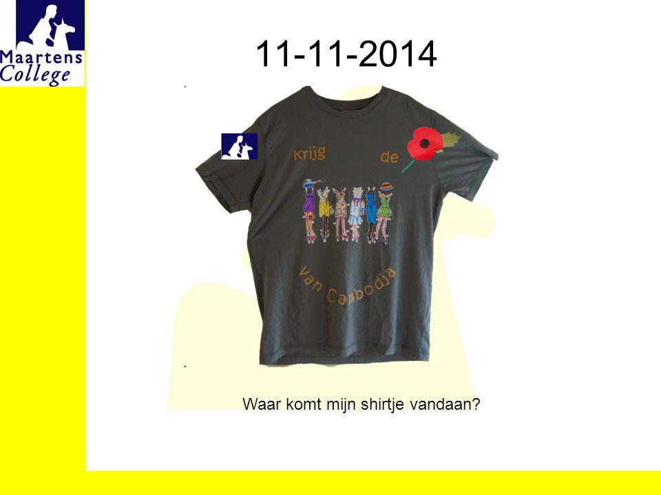 11-11-2014 Waar komt mijn shirtje vandaan?
