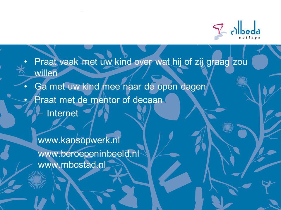 Open dagen Infodag 13 november 2014 14.00 uur – 19.30 uur Open dagen Zadkine Vrijdag 16 en zaterdag 17 januari 2015 www.zadkine.nl Open dagen Albeda College Vrijdag 23 en zaterdag 24 januari 2015 www.albeda.nl