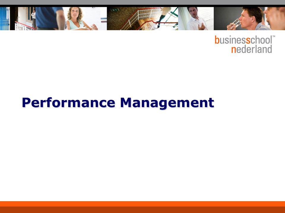4 Welke aspecten spelen een rol bij performance management.