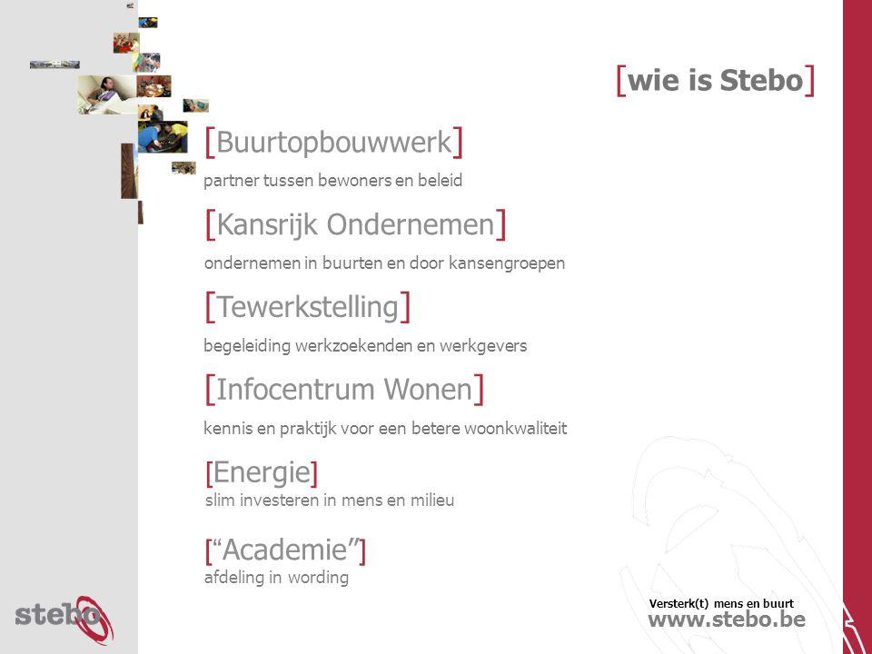 Versterk(t) mens en buurt www.stebo.be [ 3e dagdeel ]