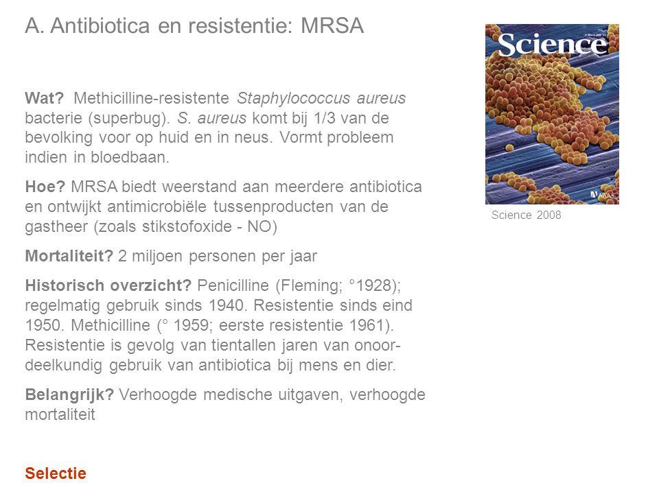 A.Antibiotica en resistentie: MRSA Wat.