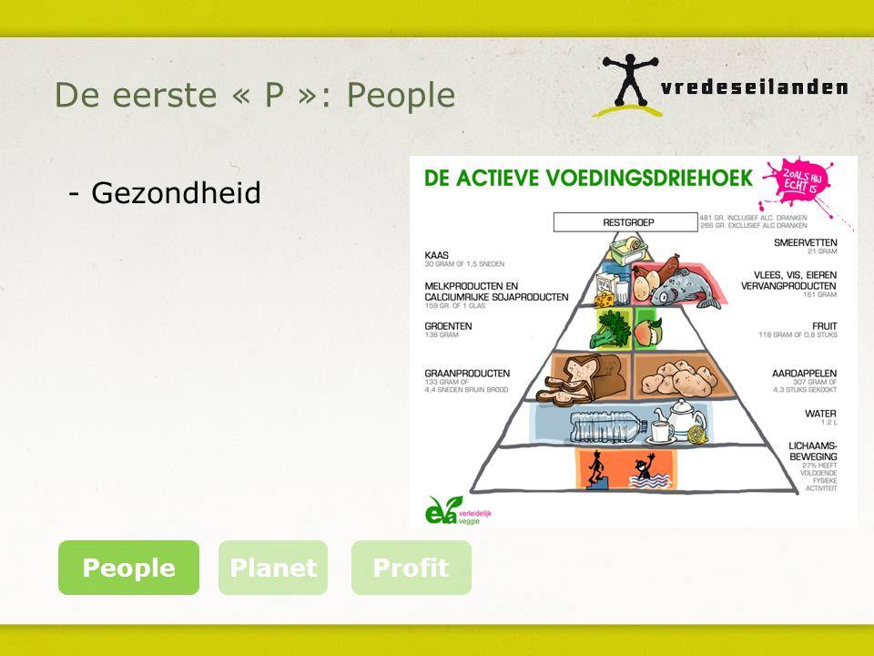 De eerste « P »: People PeoplePlanet Profit - Gezondheid