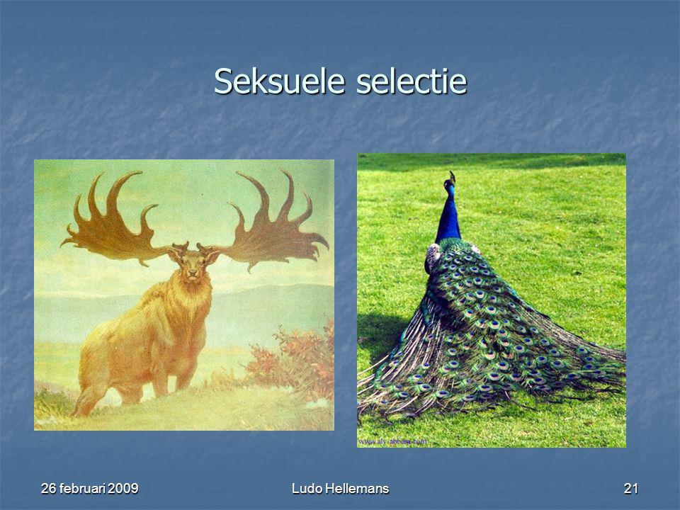 26 februari 2009Ludo Hellemans21 Seksuele selectie