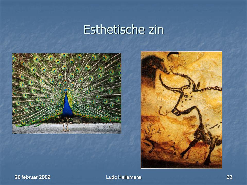 26 februari 2009Ludo Hellemans23 Esthetische zin