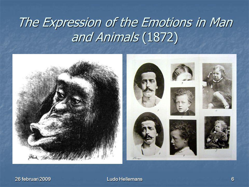 26 februari 2009Ludo Hellemans7 Darwins theorieën Ontstaan biodiversiteit Ontstaan biodiversiteit Ontstaan leven op Aarde Ontstaan leven op Aarde Afstamming van de mens Afstamming van de mens Relatie mens - dier Relatie mens - dier