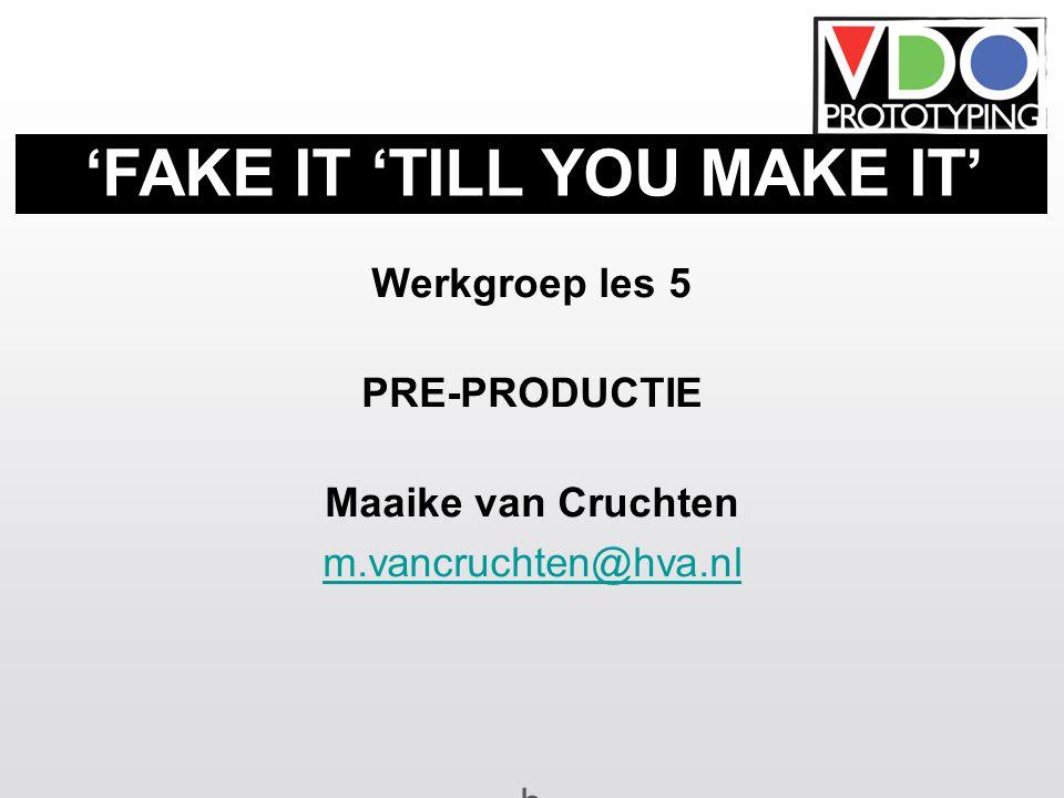 3 het productieproces pre productie: voor het draaien: scenario, decoupage, storyboard, breakdown, callsheets, etc...