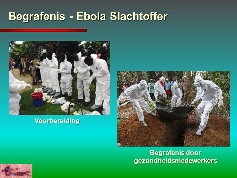 Begrafenis - Ebola Slachtoffer Voorbereiding Begrafenis door gezondheidsmedewerkers