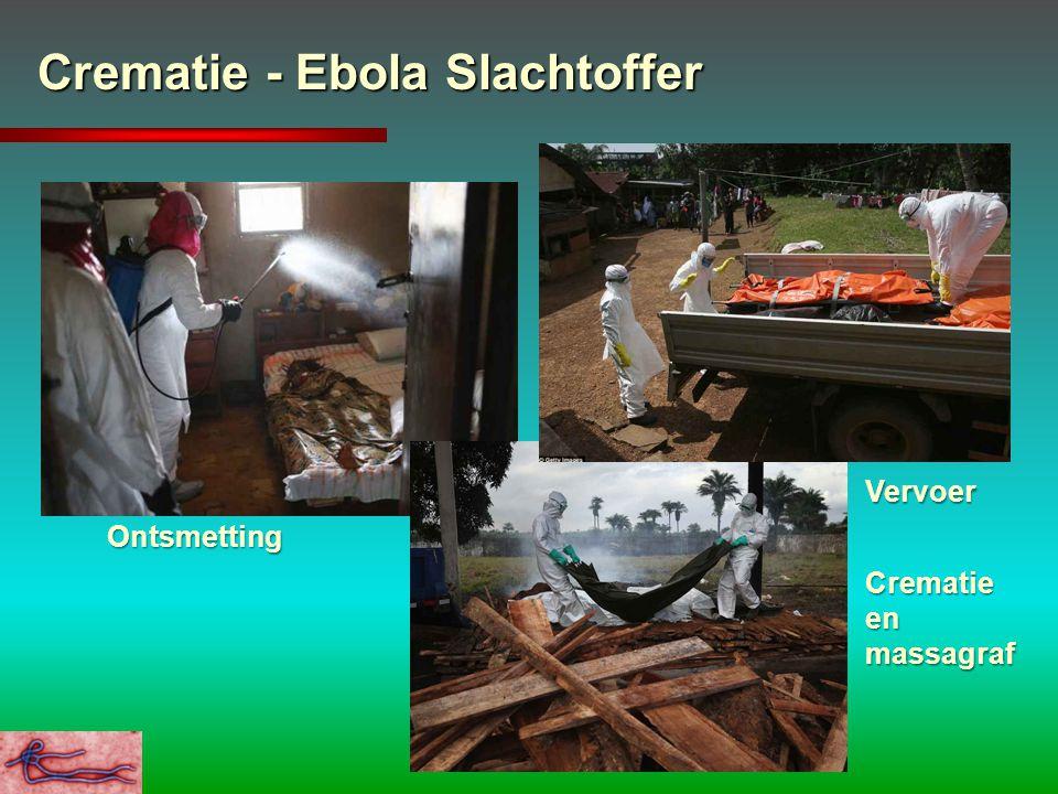 Crematie - Ebola Slachtoffer Ontsmetting Crematie en massagraf Vervoer