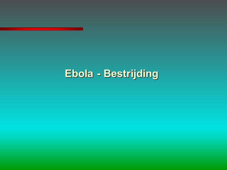 Ebola - Bestrijding