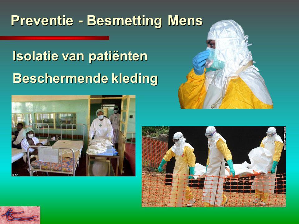 Preventie - Besmetting Mens Isolatie van patiënten Beschermende kleding