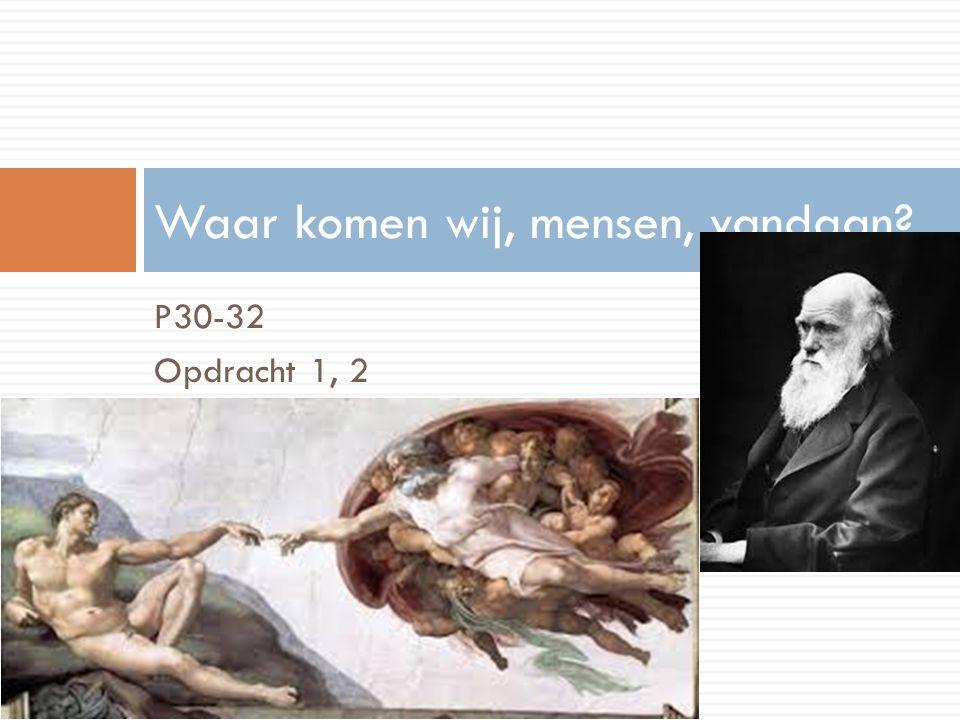 O1: Twee visies over de oorsprong van de mens,  Genesis: oorsprong, ontstaan, schepping.