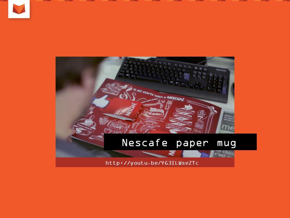 Nescafe paper mug http://youtu.be/YG3ILWseZTc
