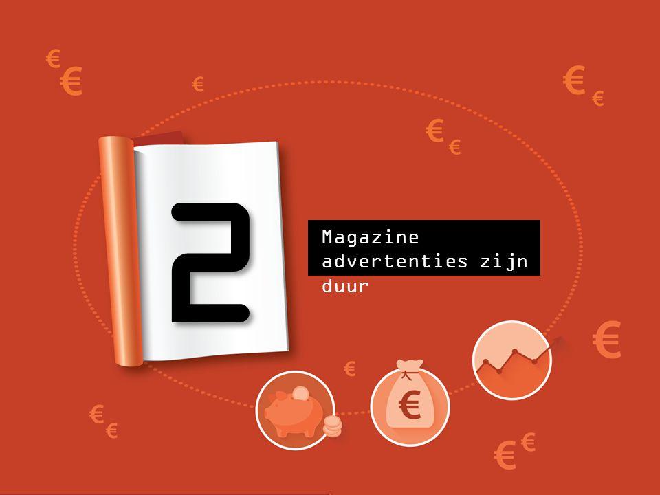 2 Magazine advertenties zijn duur
