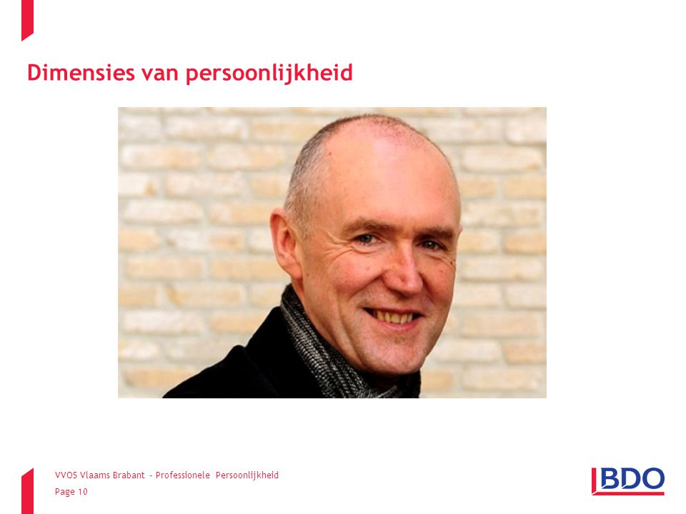 VVOS Vlaams Brabant - Professionele Persoonlijkheid Page 10 Dimensies van persoonlijkheid