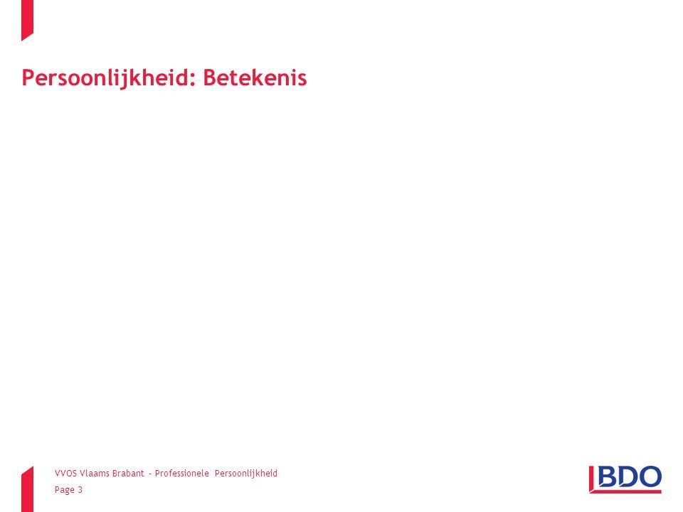 VVOS Vlaams Brabant - Professionele Persoonlijkheid Page 14 Dimensies van persoonlijkheid