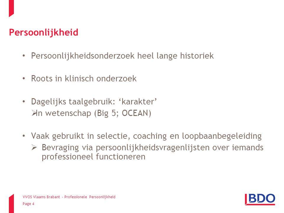 VVOS Vlaams Brabant - Professionele Persoonlijkheid Page 25 Resultaten