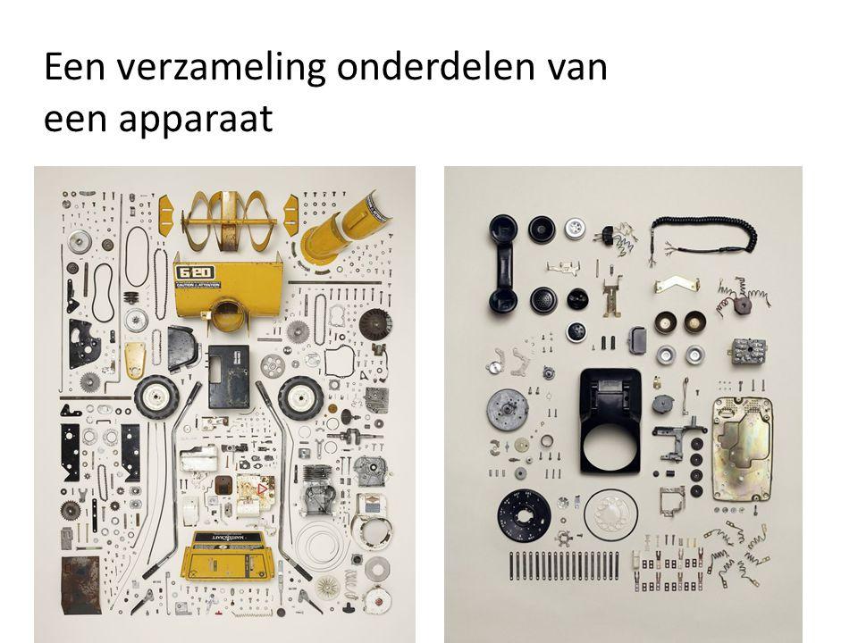 Een verzameling onderdelen van een apparaat