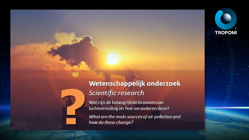 Wetenschappelijk onderzoek Scientific research Hoe kunnen we smogverwachtingen verbeteren met Tropomi meetgegevens.