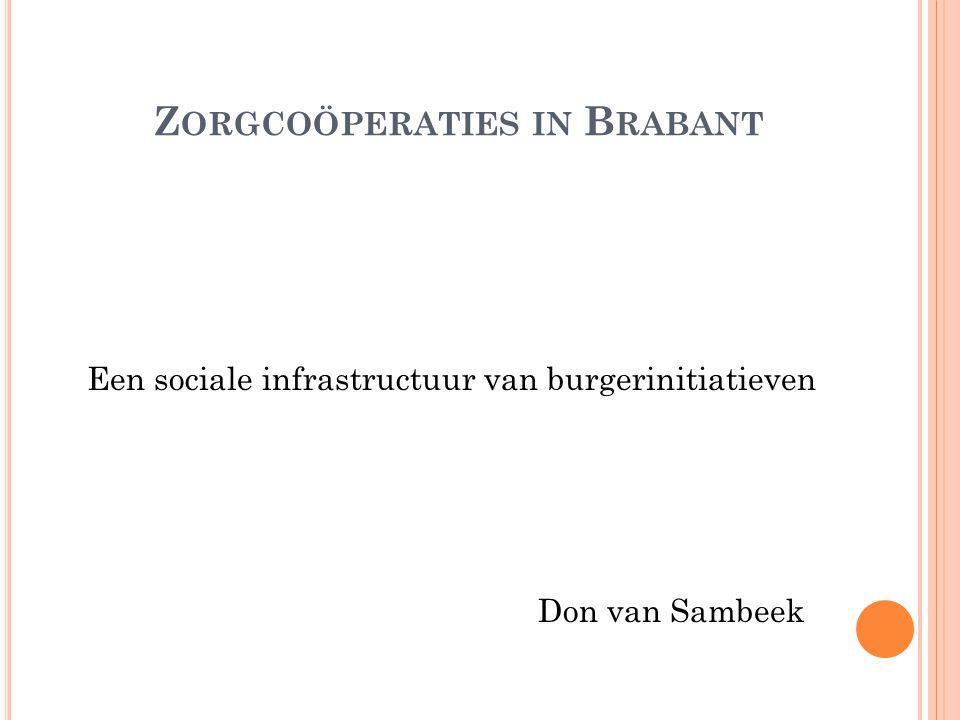 Z ORGCOÖPERATIES IN B RABANT Een sociale infrastructuur van burgerinitiatieven Don van Sambeek