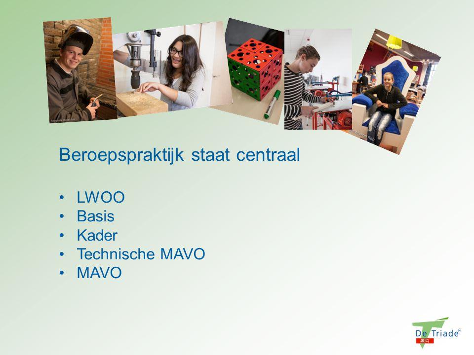 Beroepspraktijk staat centraal LWOO Basis Kader Technische MAVO MAVO