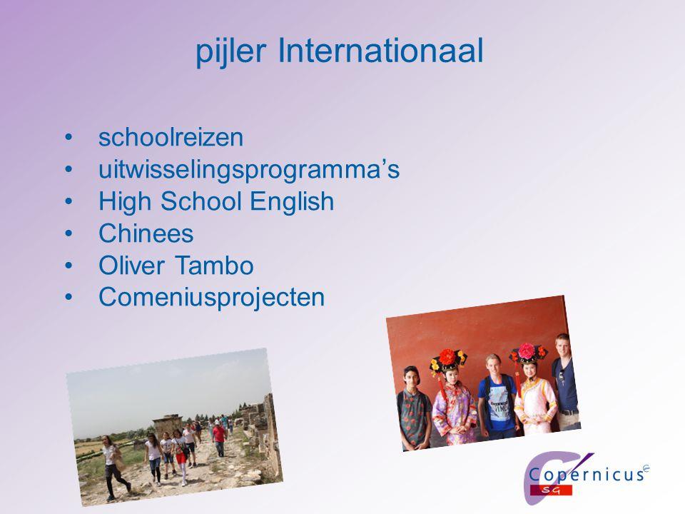 pijler Internationaal schoolreizen uitwisselingsprogramma's High School English Chinees Oliver Tambo Comeniusprojecten