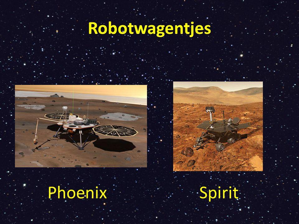 Op Mars rijden sinds 2004 robotwagentjes rond met camera s.