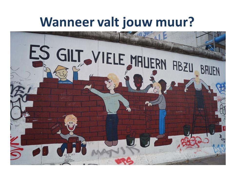 Wanneer valt jouw muur?