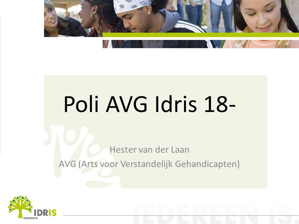 Poli AVG Idris 18- Hester van der Laan AVG (Arts voor Verstandelijk Gehandicapten)