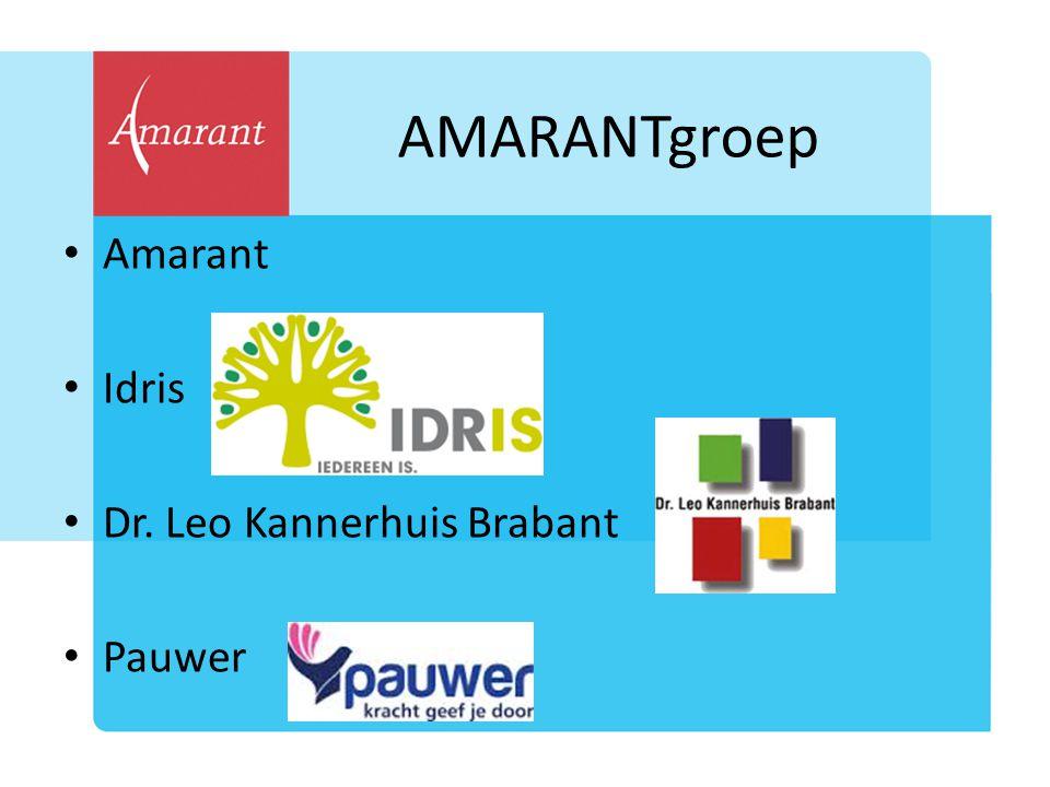 AMARANTgroep Amarant Idris Dr. Leo Kannerhuis Brabant Pauwer