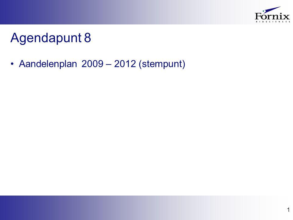 1 Agendapunt 8 Aandelenplan 2009 – 2012 (stempunt)