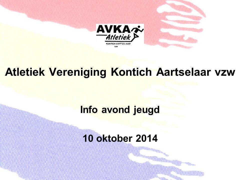 Atletiek Vereniging Kontich Aartselaar vzw Info avond jeugd 10 oktober 2014