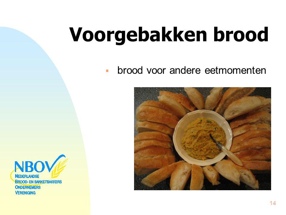 Voorgebakken brood  brood voor andere eetmomenten 14