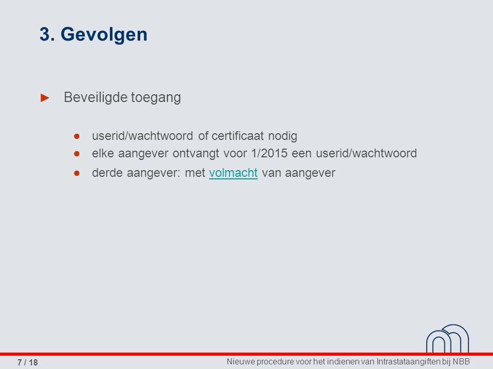 Nieuwe procedure voor het indienen van Intrastataangiften bij NBB 7 / 18 3.