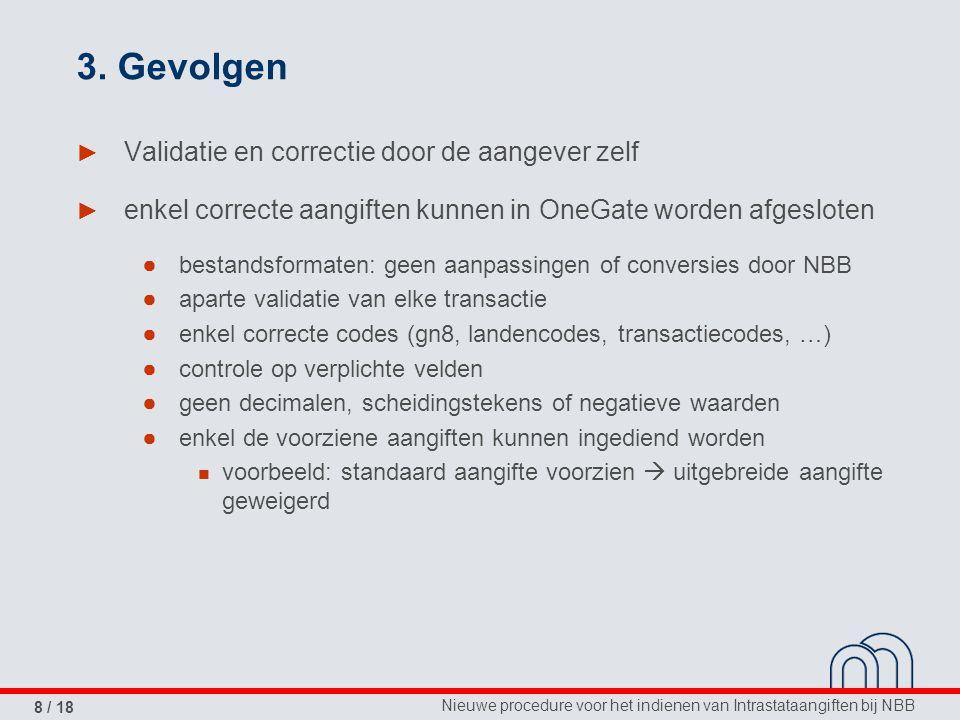 Nieuwe procedure voor het indienen van Intrastataangiften bij NBB 8 / 18 3.
